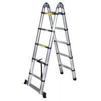 Двураменна телескопична алуминиева стълба BISONTE STR3032