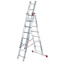 Алуминиева трираменна стълба Svelt Euro E3 - 3х10 стъпала