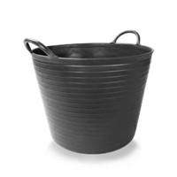Зидарска пластмасова черна кофа RUBI 40 L
