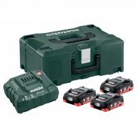 Комплект батерии и зарядно METABO 18V ASC 30-36 + 3x4.0 Ah LiHD + Metaloc II
