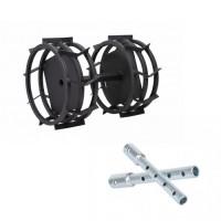 Комплект метални колела за мотофреза FORTECO - 340 mm + уширители