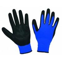 Ръкавици синьо трико TopStrong
