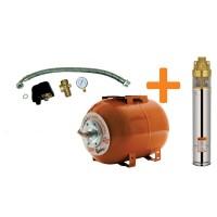 Комплект сондажна помпа и хидрофорен съд RURIS Dunarea 50