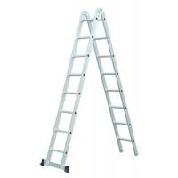 Двустранна алуминиева мултифункционална стълба ARON 2x6