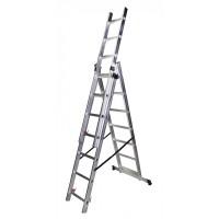 Трираменна алуминиева стълба BISONTE STR315