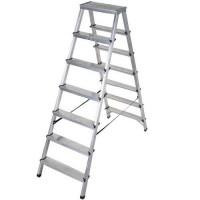 Двустранна алуминиева стълба DRABEST 2x7
