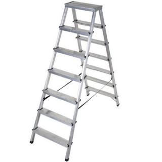 Двустранна алуминиева стълба DRABEST 2x8