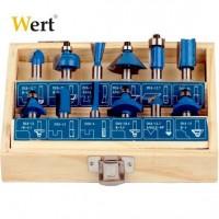 Комплект фрезери за дърво WERT - 15 броя