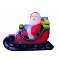 Светеща фигура ROTO - Дядо Коледа на шейна